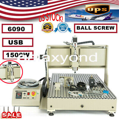 Cnc 6090 4axis Usb Port Router Milling Engraving 3d 24x36 Cnc Cutting Machine