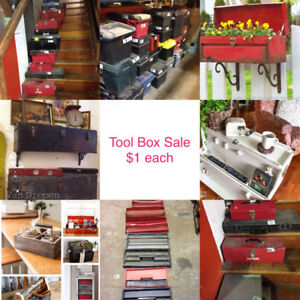 Toolboxes Tool Boxes $1 each & LOTS OF TOOLS FOR SALE