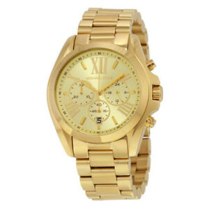Michael Kors Goldtone Bradshaw Chronograph Women's Watch Gold