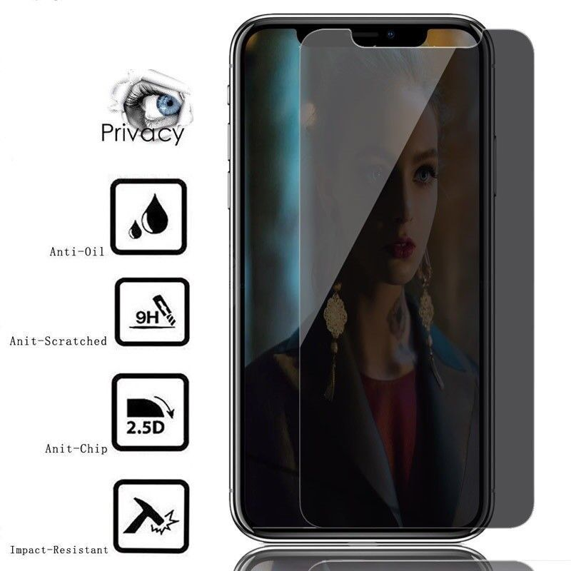For iPhone X / XS HD Privacy Anti-Spy Tempered Glass Screen Protector Film Cell Phone Accessories