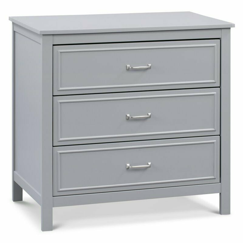 Davinci Charlie 3-Drawer Dresser in Gray