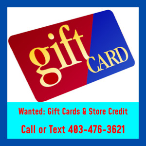Sell your giftcards or store credit. Sell them to get fast cash.