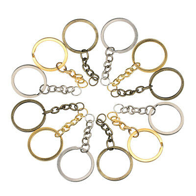 Wholesale 20pcs/lot Metal Gold Plated Round Split Key Chains Key Ring Key Tags
