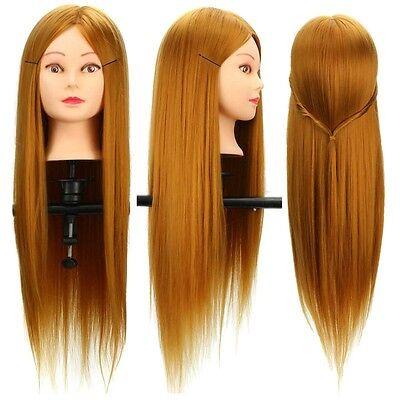 Testa Testina Studio 26'' 30% Veri Capelli Parrucchiere Mannequin Head Clamp