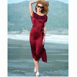 Wine Red Silky Dress