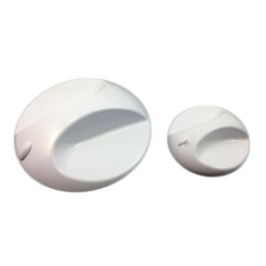 Replacement Knob Pack for Galaxy Aqua 1000 / 2000 / 3000 Showers SG08089 White