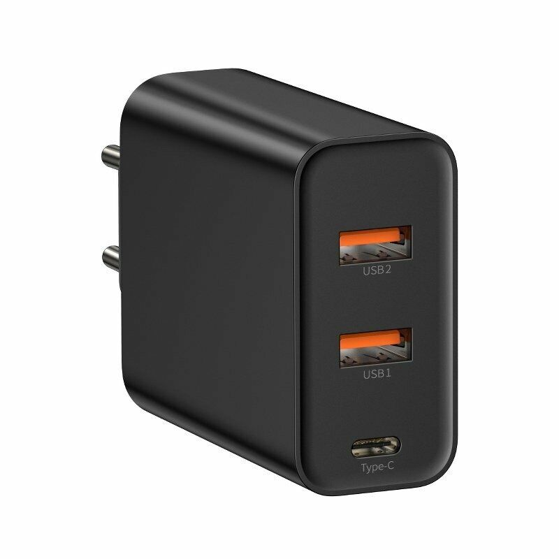 Baseus Caricabatteria 2x USB Quick Charge + 1x Type C 60W Idoneo per Mac