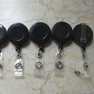 25-ID-Holder-Reels-Retractable-Badge-Clip-Reel-Black