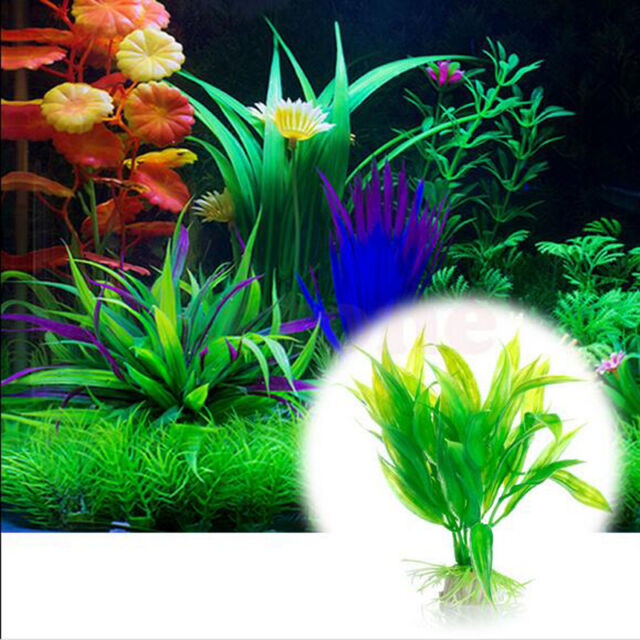 Green Artificial Fish Aquarium Tank Decor Plastic Water Grass Plant Ornament