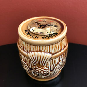 Miniature BENEAGLES Scotch Whisky Barrel Peter Thomson Perth Ltd