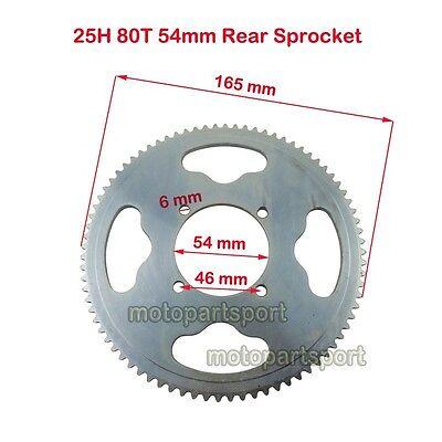 Mini Moto 25H 54mm 80Tooth Rear Sprocket For MX350 MX400 XRF500 Razor Dirt Bike