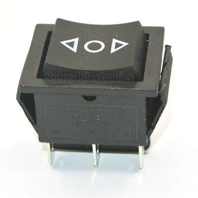 5pcs 12v 6pin Dpdt Power Momentary Rocker Switch Ac250v16a On-off-on Switch