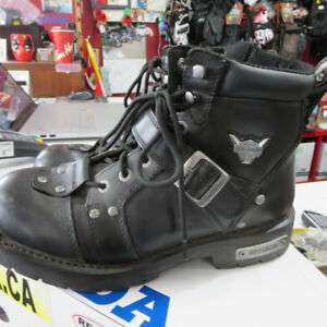 Men's Harley Davidson Motorcycle Boots Size 12 RE-GEAR Oshawa