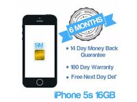 Apple iPhone 5S Space Grey Good Condition UNLOCKED 16GB
