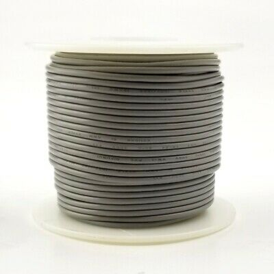 20 Awg Gauge Solid Grey 300 Volt Ul1007 Pvc Hook Up Wire 100ft Roll 300v