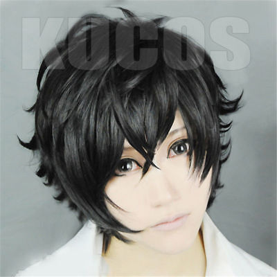 P5 Persona 5 Kurusu Akira Joker Cosplay Wig Anti-wrinkle Curly Hair DISCOUNT wig - Discount Wig