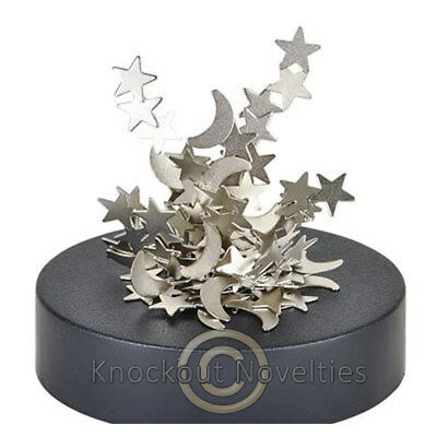 Magnetic Star And Moon Sculpture Novelty Fun Gift Toy Collectable Interesting