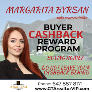 Cashback Realtor Vaughan house for sale real estate agent, GTA