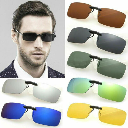 UV400 Sunglasses Polarized Clip On Driving Glasses Day Night Vision Lens Clothing, Shoes & Accessories