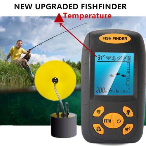 100M Portable Fish Finder Fishfinder Sonar Sensor Depth Echo