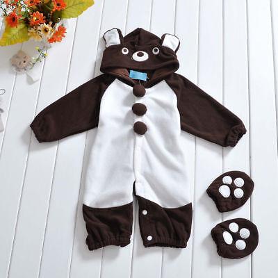 Baby Kleinkind Tier Kostüm Bär Fleece Kostüm Outfit Schlafanzug Jungen Mädchen