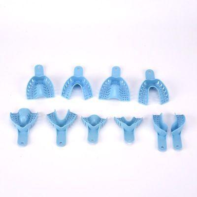 10 Pcsset New Dental Supply Impression Trays Autoclavable Central Denture Blue