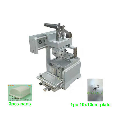 Manual Pad Printing Machine Kit Pad Printer No Sealed Ink Cup System Plate Pad