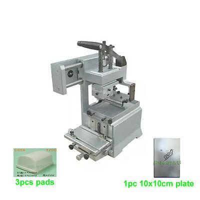 Manual Pad Printing Machine Kit Pad Printer No Sealed Ink Cup System Plate Pad
