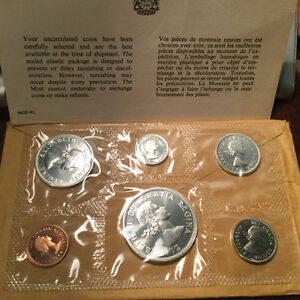 1964 Canada Uncirculated Silver PROOF- LIKE set coins Gatineau Ottawa / Gatineau Area image 2