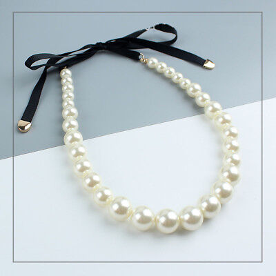New Faux Pearl Beads Collar Necklace Short Best Gift Fashion Women Party