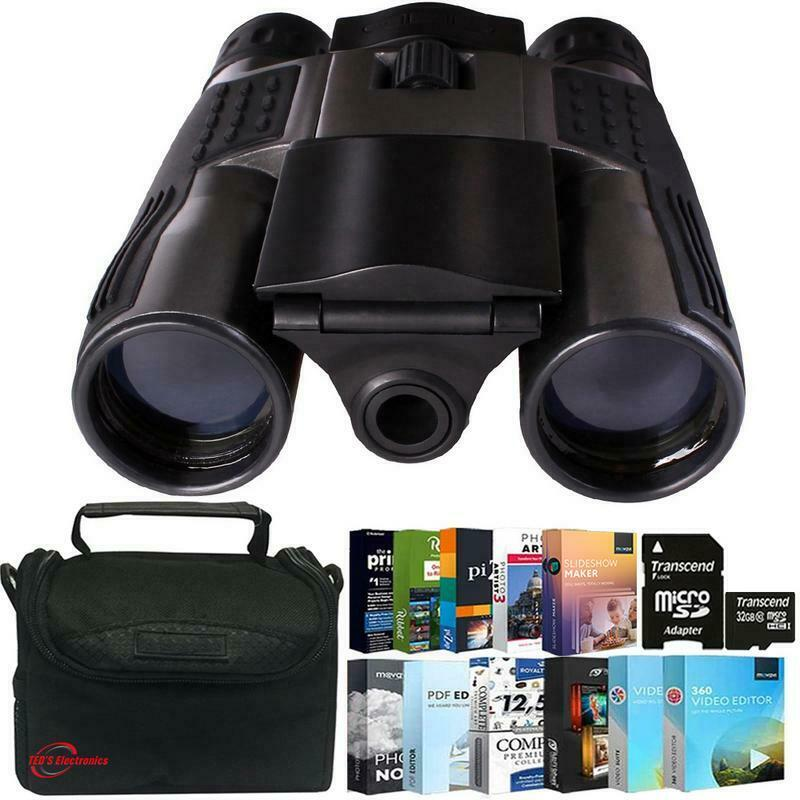 Vivitar 12x25 Binoculars - Built-in Digital Camera with Photo Editing Kit