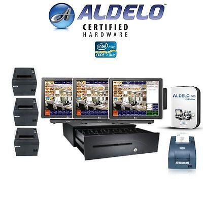 3 Station Aldelo Pro Restaurantbar Pos System - 3 Aldelo Pos Wkitchen Printer