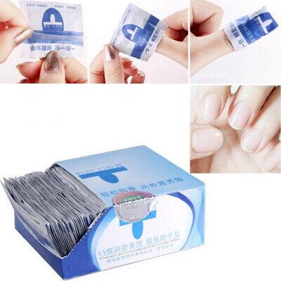 (200PCS)UV Gel Nail Polish Remover Wraps Acetone Acrylic Foil Wipe Soak Off Pad
