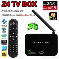 Z4 Android TV Box Octa Core 8 Coeurs 64 bits 4K 2GB RAM 16GB ROM