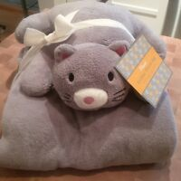Plush Animal Throw Blanket- Brand New