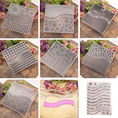Plastic Christmas Embossing Folders Stencil Template Scrapbooking Paper Card DIY