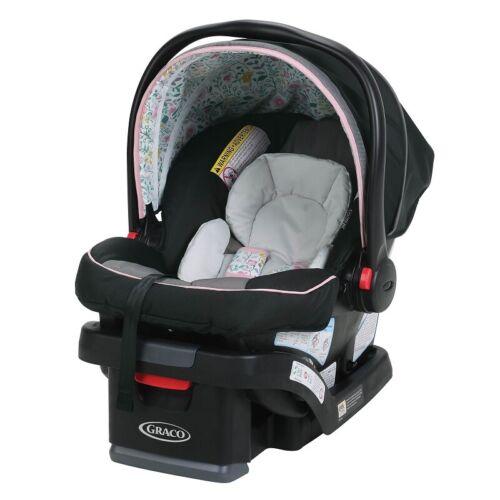 GRACO SNUGRIDE SNUGLOCK 30 INFANT CAR SEAT, TASHA PINK *DISTRESSED PKG