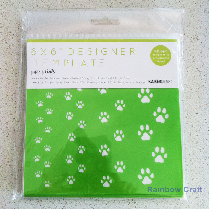 Kaisercraft Mini Designer Templates Stencils Blossom Christmas Holly Leaves - Paw Prints