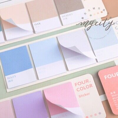 80 Sheets Sticky Notes Office Stationary Post Planner Stickers Color Memo Note