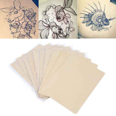 10 x Double Side Tattoo Practice Training Fake Skin Sheet Blank Plain 8