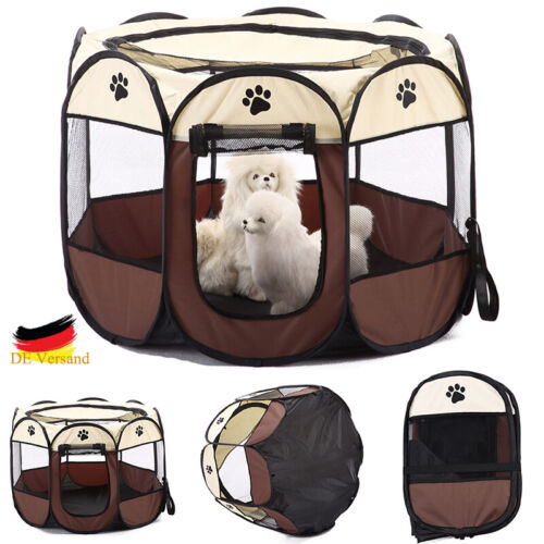 Hunde Zelt Faltzelt Welpen Katzen Octangle Transportbox Outdoor Camping Tragbar