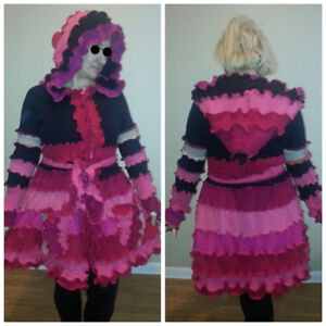 Upcycle Recycle Coats sweater Cardigans tunics all fit M to L