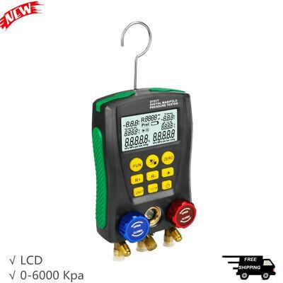 Refrigeration Digital Manifold Hvac Gauge Pressure Tester For Air Conditioner T