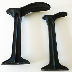 """Antique Cast-Iron Cobbler Shoe Stands and Set of Two """"Lasts"""""""