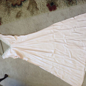 Antique vintage pink satin nightgown size 38 excellent
