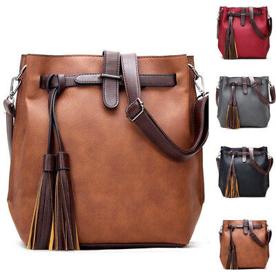 Women Shoulder Bag PU Leather Satchel Crossbody Tote Handbag Purse Messenger