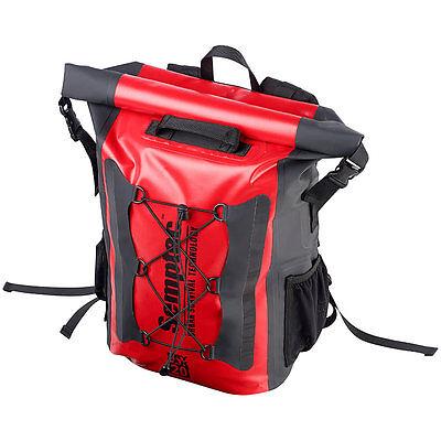 Semptec Wasserdichter Trekking-Rucksack aus LKW-Plane, 20 Liter, IPX6