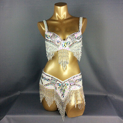 D &DD CUP 1618 Belly Dance Costume Indian Outfit Bollywood Set Bra Belt Carnival ()