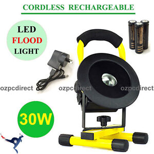 30W LED Flood Spot Work Light Rechargeable Portable Camping Hiking Lamp AU POST