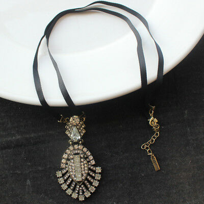 New Sugarfix Crystal Pendant Necklace Gift Vintage Women Party Holiday Jewelry